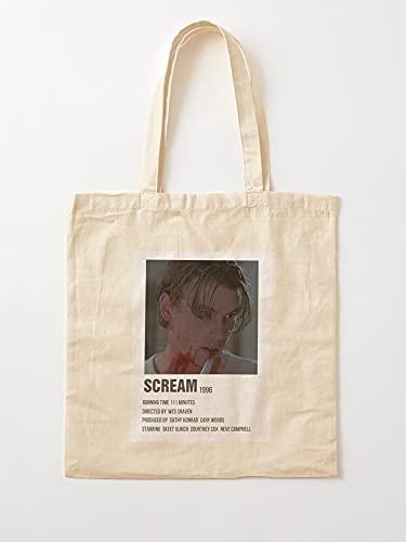 Générique Loomis Indie Scream Vintage Retro Movies Billy 90S Halloween | Bolsas de lona con asas de algodón duradero
