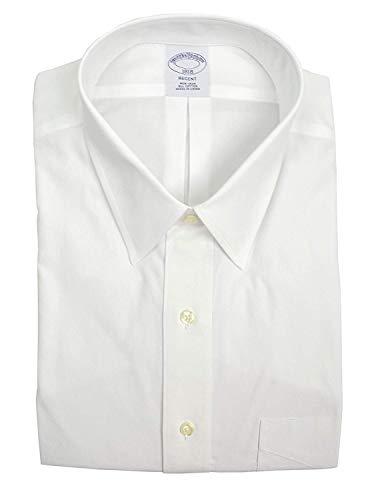 "Brooks Brothers Men's Regent Fit Pocket Non Iron Dress Shirt White (15.5"" Neck 34/35"" Sleeve)"