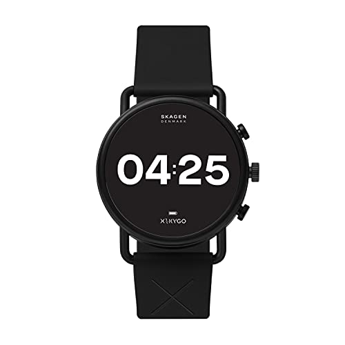 Skagen Connected Falster 3 Gen 5 Stainless Steel and Silicone Touchscreen Smartwatch,...
