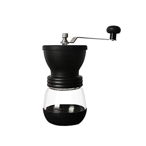 Qingsb Handmatige Koffieboonmolen Verstelbare Grofheid Keramische Molen Molen Keukengereedschap Bonen Kruiden Moer Zaad Koffieboon Grind café, Zwart