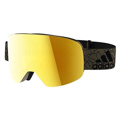 Adidas bril Skibril Googles ad80 BACKLAND olive mat 6053 goud spiegel