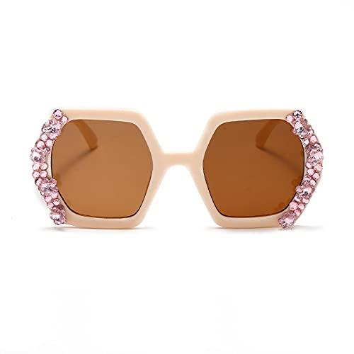 HAOMAO Gafas de sol de diamante fotocromáticas con gradiente de espejo Uv400 hechas a mano de diseñador de marca para mujer 2