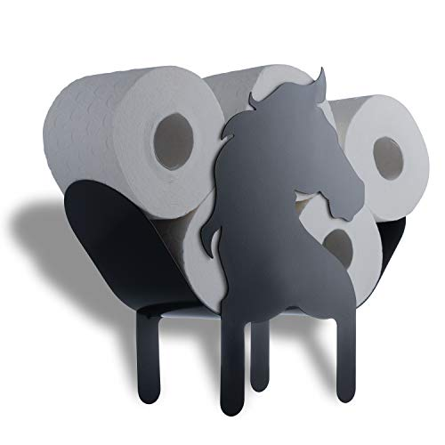 WRPS Design Toilettenpapier-Halter Black Horse Schwarzes Pferd