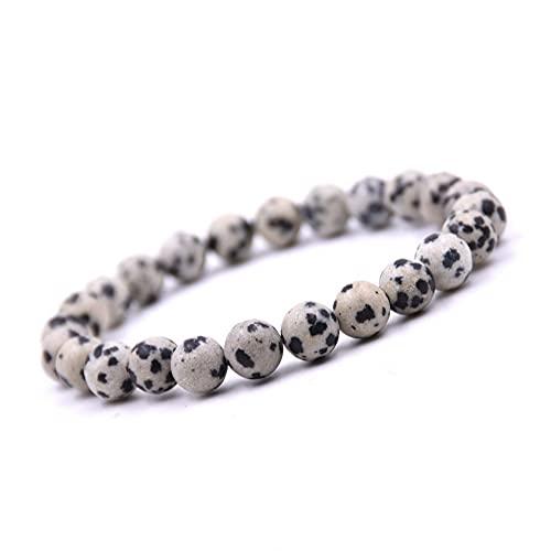 Unique Pulsera de Perlas Piedras Preciosas Jaspe 8mm Pulsera piedras curativas energía Chakra Buda Calidad de Joyero