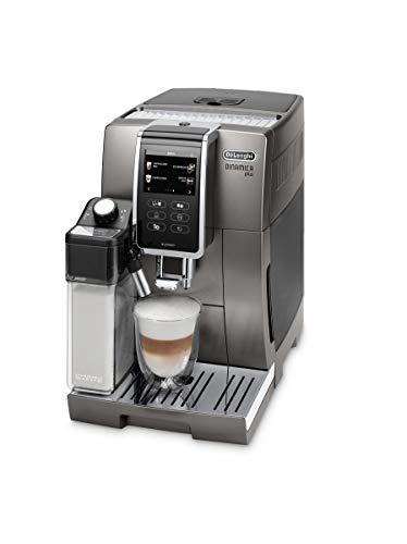 De'Longhi ECAM370.95.T, Macchina automatica per caffè in chicchi Dinamica Plus, 1450 W, sistema LatteCrema per cappuccini automatici, 1,8 L, colore Titanium