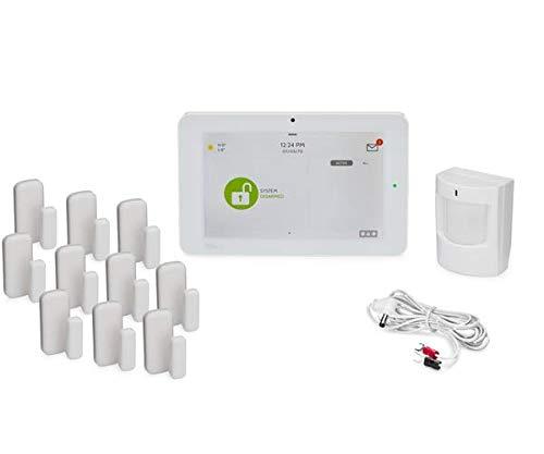 Qolsys IQ Panel 2 Plus AT&T 10-1 Kit - Alarm System Kit w/ 10 Door/Window Sensor & 1 Motion