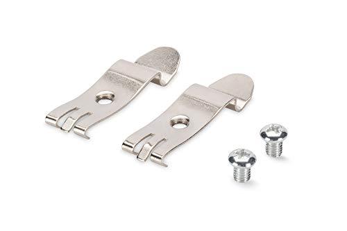 DIGITUS DIN-Rail Adapter Für Desktop Patch-Panel - Hutschienen-Montage - 1 Set = 2 Metall-Clips - Metall