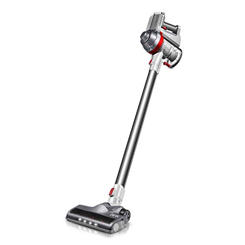 Cordless Vacuum Cleaner, 2 in 1 Ultra Lightweight Handheld Vacuum with Powerful Suction & LED Brush for Home and Pet Hair Cleaning