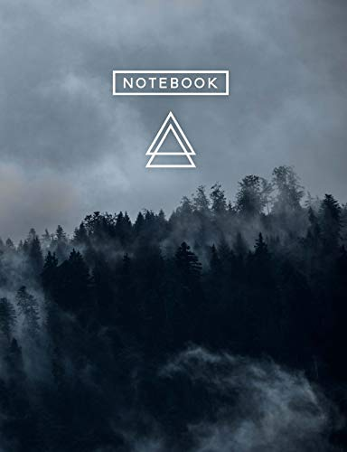 Aesthetic Art Journaling: Light Weight Mountain Hiking Composition Book | 150 Dotted Bullet/Dot Grid Pages | Forest Fog