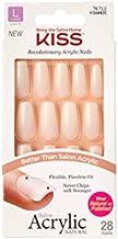 KISS Salon Acrylic Natural Strong Enough Long Length Nails KSAN05 (3 PACK)