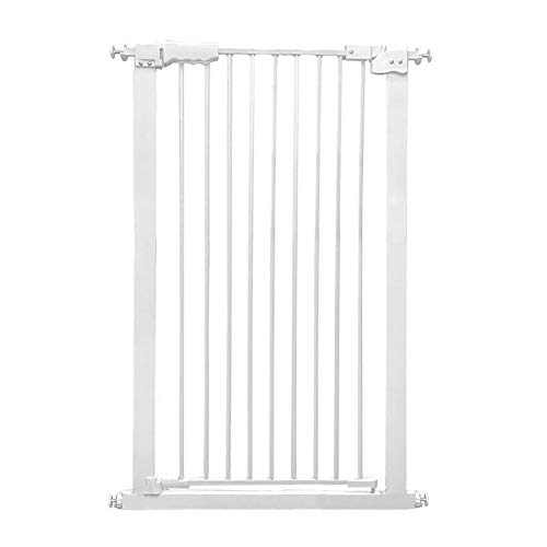Review Of Huo Baby Gate White Safety Gate, Extra Wide Baby Gate Pressure Mounted Indoor Puppy Pet Playpen for Stair Gate (Size : 100-110cm)