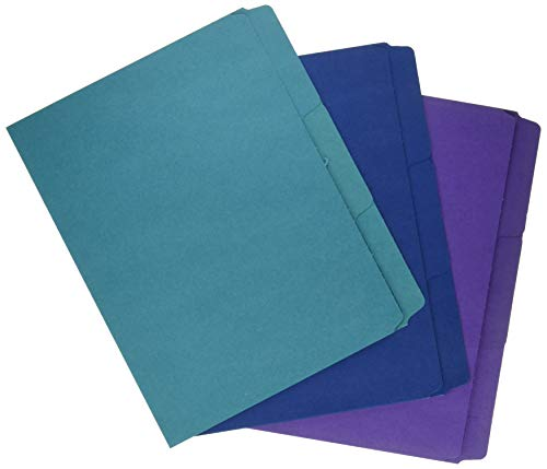 Smead SuperTab Organizer Folder, Oversized 1/3-Cut Tab, 2 Dividers, Letter Size, Assorted Colors, 3 per Pack (11989)