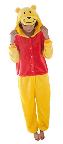 FunnyCos Pigiama unisex per adulti, per cosplay e cosplay, con cappuccio Winnie the Pooh XL