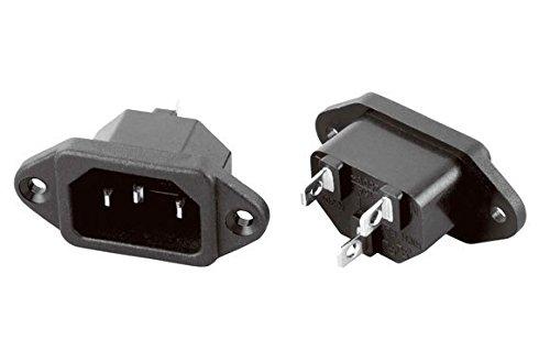 Conectores de refrigeración empotrados hembra IEC Socket Inlet C14 10A