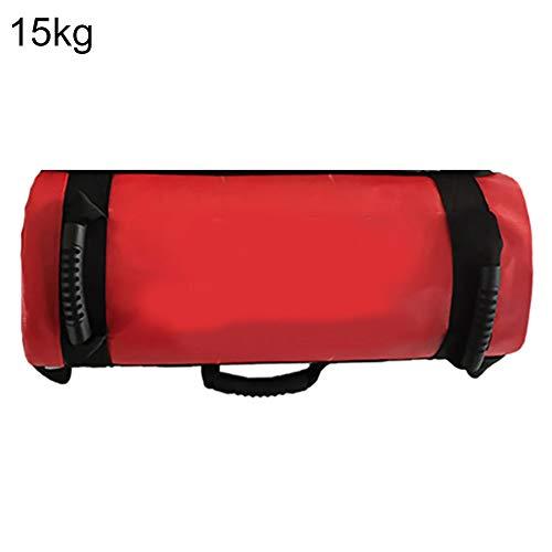 XQxiqi689sy Sport-Sandsack für Zuhause, 5/10/15/20/25/30 kg Füllung, Gewicht, Krafttraining, Fitnesstraining, Damen, rot, 15 kg