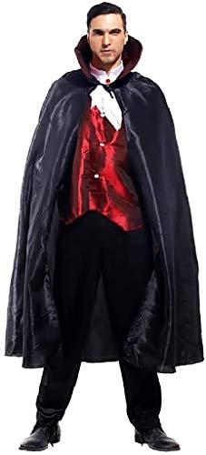 EVRYLON Disfraz de Vampiro de Carnaval draculacolor Negro Adultos Talla nica Twilight