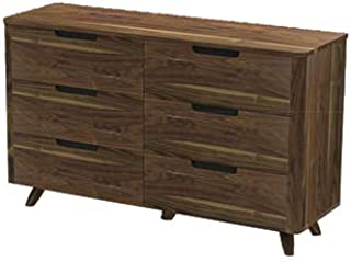 Unique Furniture Tahoe 6 Drawer Double Dresser in Walnut