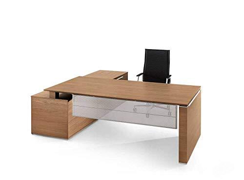 Bralco Schreibtisch mit Sideboard Jet Design Chefschreibtisch, Chefzimmer, hochwertige Büromöbel