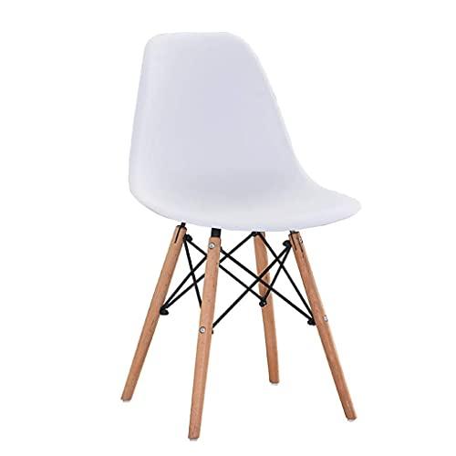 WYBW Silla de comedor para el hogar, silla de comedor retro, silla de restaurante, cocina, salón, adultos, niños, taburete de respaldo alto para el hogar, sala de estar, dormitorio,blanco