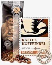Coffee-Nation Kaffee Koffeinfrei Lunata 1000g Bohnen | Spitzenqualität | Kaffeeliebhaber