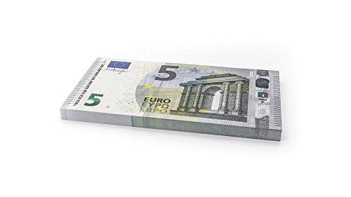 Cashbricks 75 x €5 Euro Spielgeld Scheine - vergrößert - 125{e9e26f18175e34f702954ded308ba33caf344f3c31b8aaa52e67785f052d2657} Größe