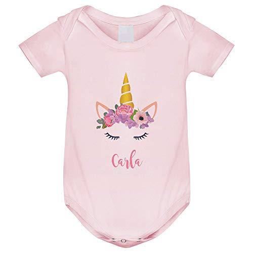 Body bebé manga corta Unicornio personalizado, Regalo único y original para niños y niñas, unisex bodies algodón en tres colores