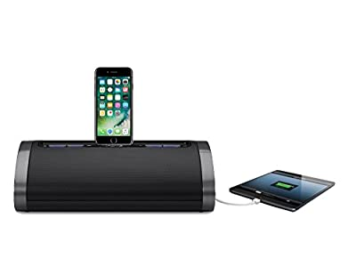 iHome 2.1 Speaker Dock Docking Station Mains Powered Charging Station with Tru Bass and USB Fast Charging for Smartphones/Tablets Compatible with Apple iPhone XR X 8 7 5 4 SE iPad Air 2 3 4 Mini 3 from iHome