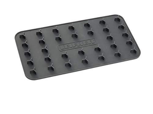 Leifheit Silikon Bügelunterlage, grau, 26 x 14 x 2cm