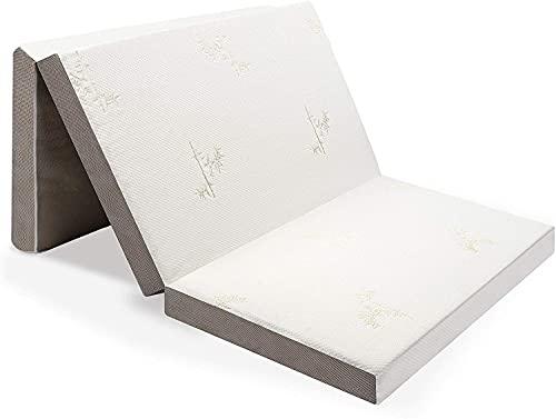 Milliard Colchón Plegable de Tres Partes, 10cm Profundidad, Para Huéspedes con Funda removible y Base Antideslizante (Individual 190 x 90 cm)