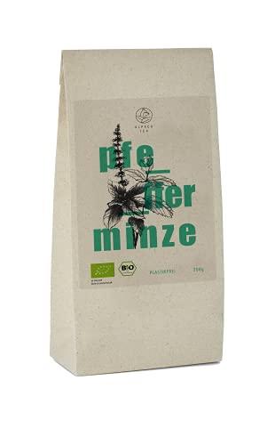 Bio Pfefferminz Tee | Graspapierverpackung | getrocknete Pfefferminze für Tee | besonders mild und natürlich ohne zusätzliche Aromen (200g)
