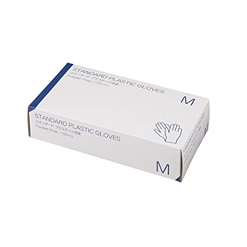 使い捨て手袋 プラスチックグローブ 粉なし(サイズ:M)100枚入り 病院採用商品 マツヨシ(松吉医科器械)