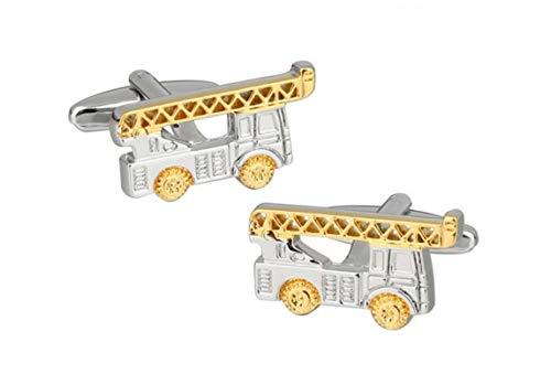 Beydodo Herren Hochzeit Manschettenknöpfe (Cufflinks) Edelstahl Feuerwehrfahrzeug Silber Hemd Manschetten Knöpfe mit Geschenk Box
