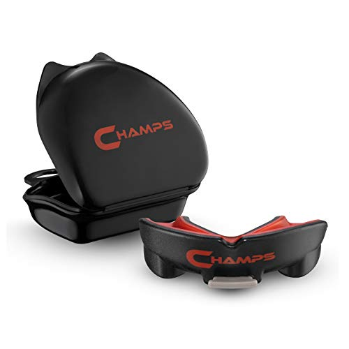 Champs Breathable Mouthguard for Boxing, Jiu Jitsu, MMA, Muay Thai, Sports, and Wrestling. Easy Fit...
