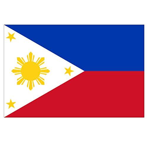 Supstick Vlag van de Natie Filipijnen Sticker 15 x 10 cm