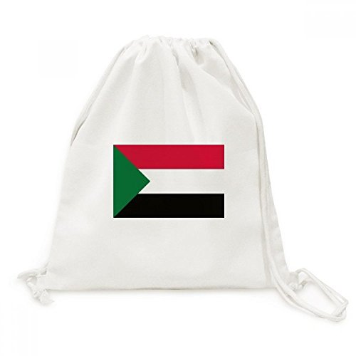 DIYthinker Sudan Nationale Vlag Afrika Land Canvas Trekkoord Rugzak Reizen Shopping Tassen