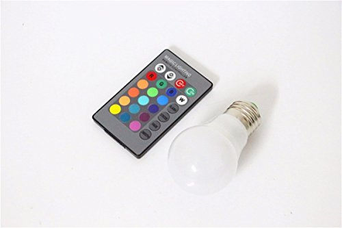Ampoule E27 LED multicolore - Télécommande incluse