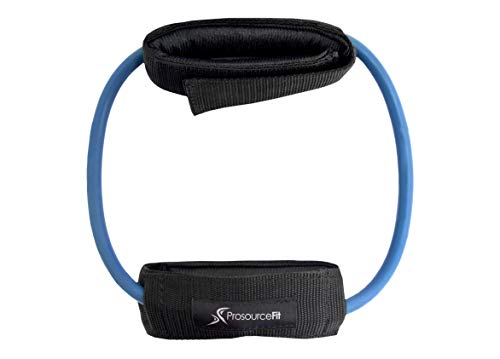 Prosource Fit Leg Resistance Exercise Band Heavy Duty Tube, 15-20 pounds with Padded Ankle Cuffs for Lower Body Workouts