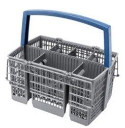 Bosch Siemens 00668270 668270 - Cesta para cubiertos (230 x 160 x 220 mm), color gris