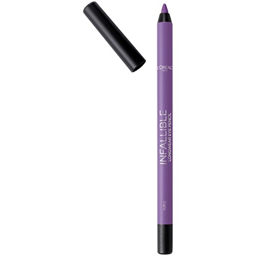 L'Oreal Paris Makeup Infallible Pro-Last Pencil Eyeliner, Waterproof and Smudge-Resistant, Glides on Easily to Create any Look, Purple, 0.042 Oz.