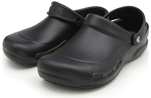 Crocs Unisex Men's and Women's Bistro Clog | Slip Resistant Work Shoes, Black, 9 US