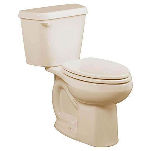 American Standard 221DA004.021 Colony 1.6 GPF 2-Piece Round Front Toilet with 12-In Rough-In, Bone
