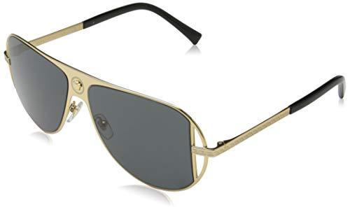 Ray-Ban Herren 0VE2212 Sonnenbrille, Schwarz (Gold), 56.0