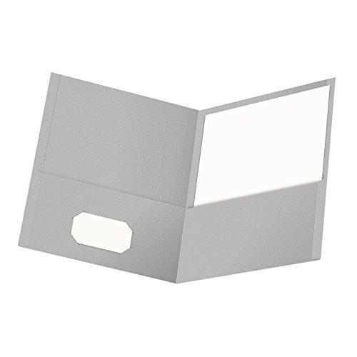 Fólder de bolsillo Oxford Twin, tamaño carta, 25 por caja, Gris, 1 paquete