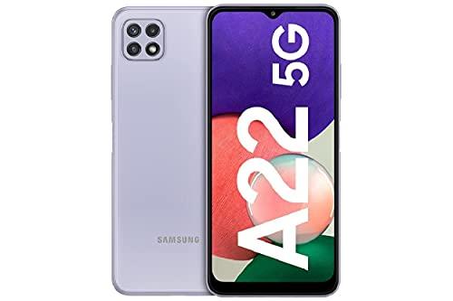 Samsung GalaxyA22 5G–Smartphonelibrecon 6.6 Pulgadas 128GB y Sistema Operativo Android Violeta Versión ES