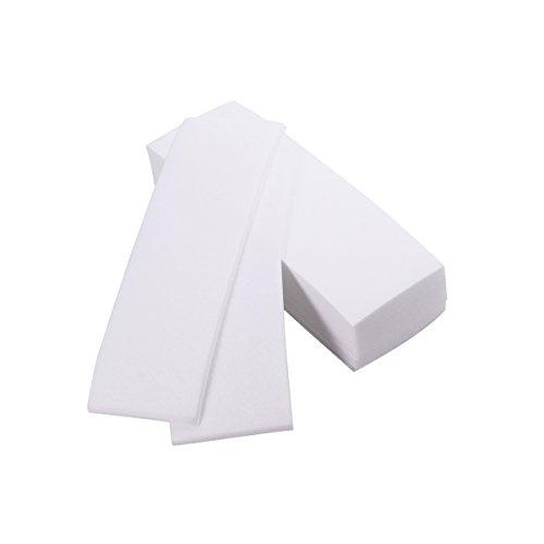 ROSENICE 100pcs nichtgewebtes Enthaarungs-Wachs streift Papierberufsgesichts- und Körper-Haar-Abbau-Wachsstreifen ab