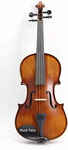 Music Fairy バイオリン MF002-3C 初心者向けセット:本体・弓・セミハードケース・駒・松脂・肩当て 4/4 3/4 1/2 1/4 1/8 Violin ヴァイオリン 大人用 初心者用 (1/4)