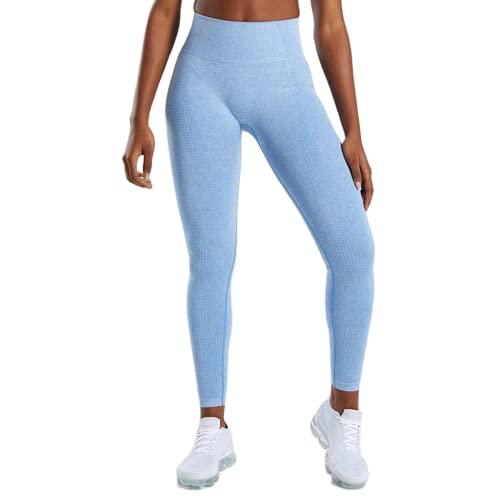 QTJY Pantalones de Yoga para Mujer, Cintura Alta, Push Up, Mallas Deportivas, Mallas de Entrenamiento para Correr, Fitness, Deportes, Pantalones de Control de Barriga CM