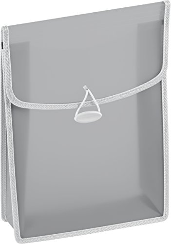 Brunnen 104163480 Heftbox / Heftsammler FACT!pp (transluzente PP-Folie, für A4, mit Gummizugverschluss) grau
