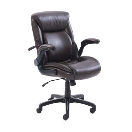 AIR Lumbar Bonded Leather Manager's Office Chair, Brown (Brown)