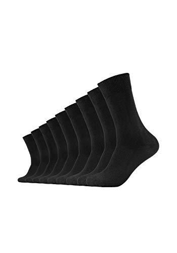 Camano Herren 3403 Ca-Cotton 9 Paar Socken, Schwarz (Black 05), (Herstellergröße: 35/38) (9er Pack)